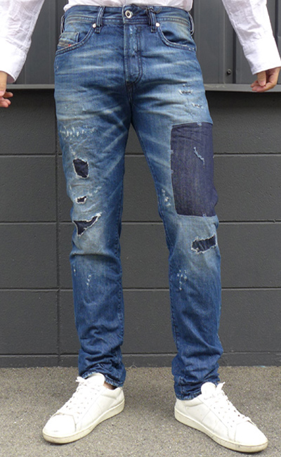 Sel Men Crash Repair Processing Denim Jeans Spring 2016 Summer Ss New On Fly Cotton Pants Skinny 00 Sdhb 0848h Buster