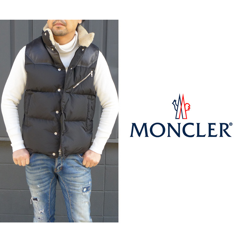 MONCLER-AVORD aboard with the pocket which there is no MONCLER men down vest sheepskin boa best nylon down jacket emblem in