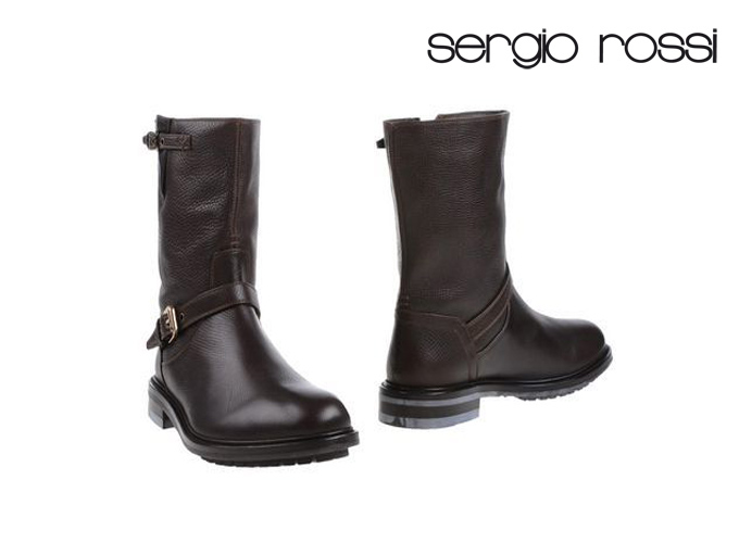 Sergio Rossi Leather Snow Boots Pick A Best For Sale Jq6EUs