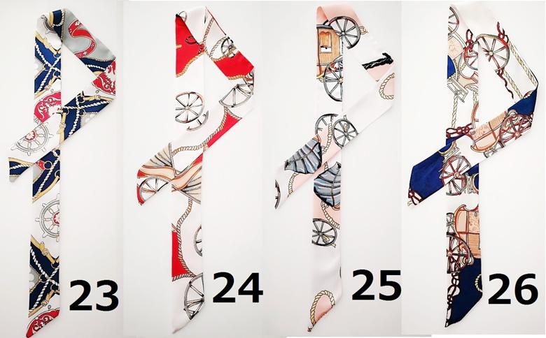 19-36 代引き不可!日付時間指定不可!【新色入荷】レディース バッグ用スカーフ シルクサテン調 横長デザイン メール便ご指定の場合日程時間指定が出来ません到着までに5日程度スカーフ ストール バッグ リボン チャーム ツイリースカーフ【メール便】