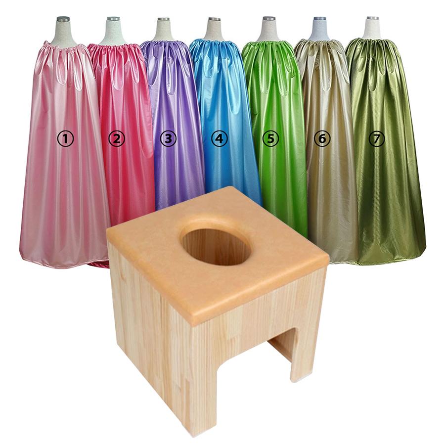 ヨモギ蒸し、丸い穴のヨモギ蒸し椅子とヨモギ蒸し服だけのセット、よもぎ蒸しサロン、自宅よもぎ蒸し用、自宅よもぎ蒸し