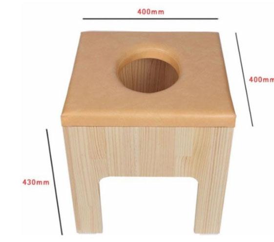丸い穴のヨモギ蒸し椅子セット、よもぎ蒸しサロン、自宅よもぎ蒸し用、, 手作り家具工房 食器棚専門店:58ac2971 --- officewill.xsrv.jp