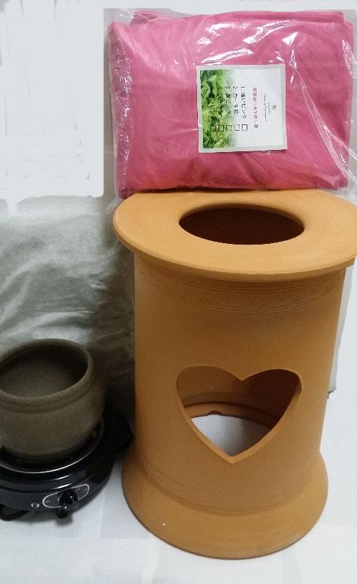 黄土よもぎ蒸し,ヨモギ蒸し、子宮の健康の自宅黄土ヨモギ蒸し椅子セット、黄土壺
