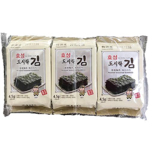 韓国食品 直営店 韓国食材 韓国海苔 のり サンブジャ 味付けのり カット 三父子海苔 サンブジャのり お弁当海苔 8切×9枚×3袋 ヒョソン 倉庫