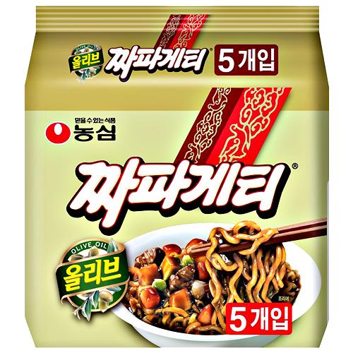 韓国食品 韓国ラーメン いよいよ人気ブランド 農心 チャパゲティ ジャジャメン ちゃじゃんめん 140g 5食パック 安い チャジャン麺