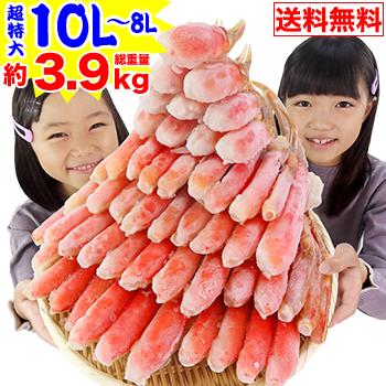 超特大10L〜8L生ずわい蟹半むき身満足セット 3kg超【総重量約3.9kg】[ 剥き身 生ずわい 生ズワイ 生ずわい蟹 生ズワ…