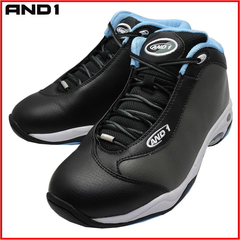 アンドワン AND1 バッシュ TAI CHI MID タイチ ミッド 1055MVB ガンメタル×ブラック×ブルー ダンス バスケットシューズ|カニエスポーツ