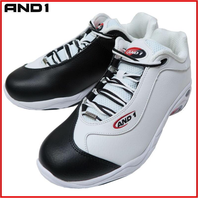 アンドワン AND1 バッシュ TAI CHI LOW タイチ ロー D301MWBR ホワイト×ブラック×レッド ダンス バスケットシューズ