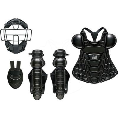 ゼット 軟式 キャッチャー 防具 4点セット(マスク スロートガード プロテクター レガーツ) BL358 ブラック 展示会限定品 ベースボール 野球