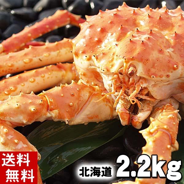 (送料無料) タラバガニ たらばがに 姿 2.2kg前後 中型 ボイル冷凍(北海道産) たらば蟹贈答用のカニ姿です。かに飯や、焼きガニも美味しい。身の入りいいかに足。 魚介類・ カニ 北海道の海鮮お取り寄せ かに太郎