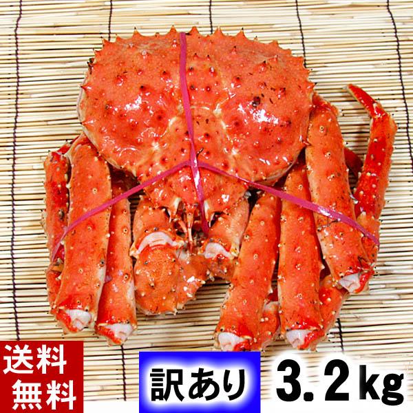 (送料無料) 訳あり タラバガニ たらばがに 姿 3.2kg前後 大型サイズ ボイル冷凍 足御折れありのわけあり品。たらば蟹食べきりサイズのカニ姿です。かに飯や、焼きガニも美味しい。カニ通販、北海道グルメ食品 魚介類・シーフード カニ タラバガニ 冷凍 北海道の海鮮お取り寄せ かに太郎
