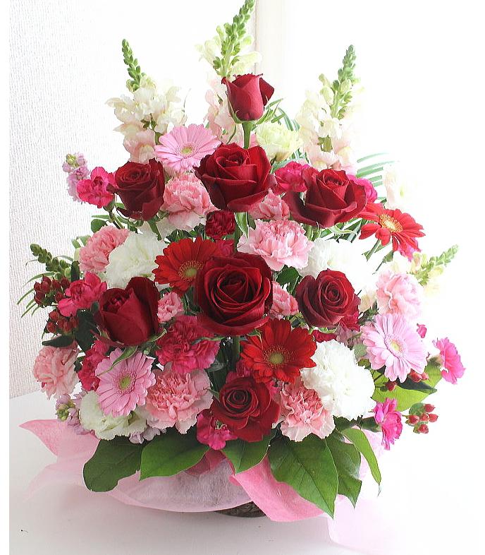 【新鮮な花をお届け】 大きなお祝いのアレンジメント 送料無料 花ギフト フラワーギフト ボリューム 豪華 バレンタインデー ホワイトデイ お祝い 開店 移転 就任 結婚祝い 記念日 誕生日 母の日 送別 敬老の日 就任祝い 還暦祝い バラ