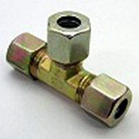 【Parker】EO-2(鋼管用くい込み継手)ユニオンティー チーズ 三方くいこみ口(ミリ)EO2-T20 | 20×20(mm)