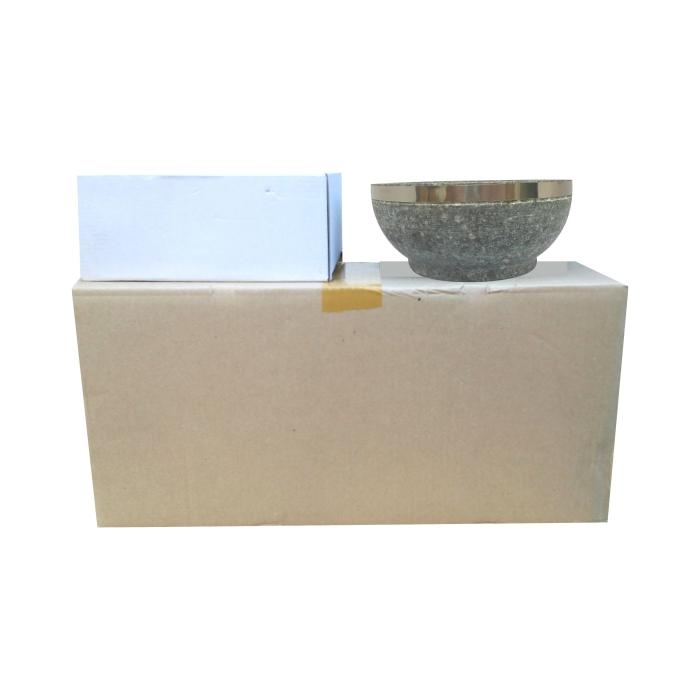 石焼ビビンバ器 石鍋 格安 業務用 卸売 供え 18cm 900円 10個入り 1個当たり=1 ステンリング補強付き 1ケース 発売モデル