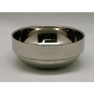 持っても手が熱くならない2重構造 熱いスープもこの器なら持っても熱くなりにくいです 在庫一掃 韓国スープ器 14cm 2重ステンレス真空構造 新作多数