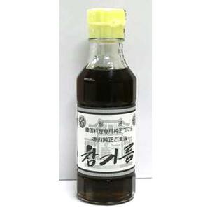 理研究家栗原はるみさんのお気に入り 本場韓国の焼肉屋さんもうなる濃厚 芳醇な香りとコク 徳山純正ごま油 限定Special Price 至上 卓上サイズ150g チャンギルム