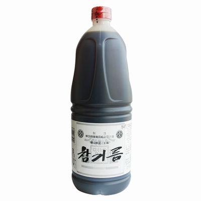 理研究家栗原はるみさんのお気に入り 通信販売 本場韓国の焼肉屋さんもうなる濃厚 芳醇な香りとコク 徳山純正ごま油 人気海外一番 1650gペットボトル チャンギルム