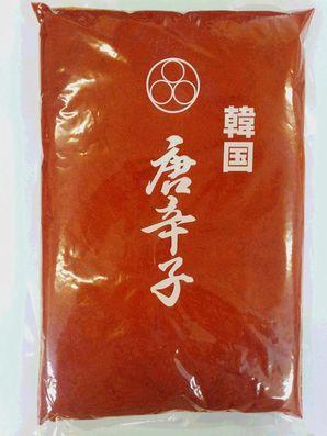 韓国唐辛子の甘味、辛み、酸味のバランスが良い唐辛子です。 三和韓国唐辛子調理用粉(ロール挽)1Kg