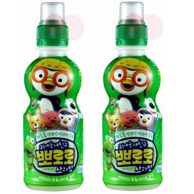大人気のポロロジュース韓流アイドルも大好きな一品 韓国ヤクルト Seasonal Wrap入荷 パルド ポロロジュース ×2本 ペット りんご味235ml デポー