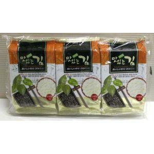 人気ブランド 2020A W新作送料無料 韓国産原料を日本国内で加工した味付け韓国のりです おいしい韓国味付けのり 8切×8枚×3