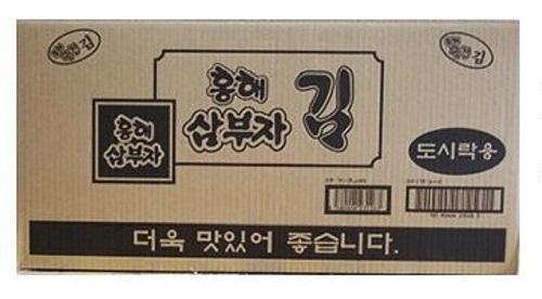 日本で一番売れている海苔です 最もポピラーな韓国のり ホンヘ 新作製品 世界最高品質人気 サンブジャ韓国のり 5g×3入り ×24パック 1ケース 三父子 弁当 海苔 サンブサ 韓国 BOX 祝開店大放出セール開催中 箱 三夫子 業務用