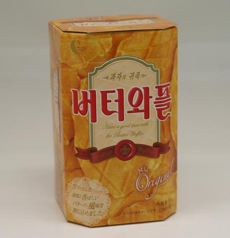 使い勝手の良い 日本人の口に一番合うお菓子と言われています 開店祝い 韓国旅行のおみやげで常に上位にランキング CROWN バターワッフル135g 1包3枚入り×5