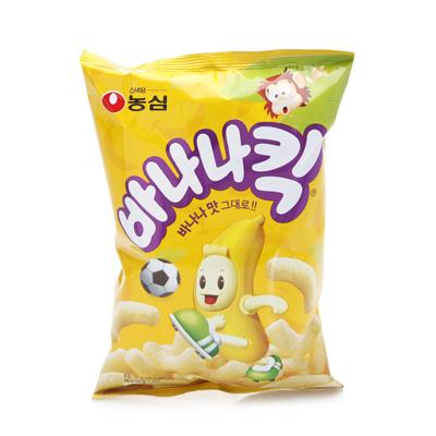 お見舞い バナナの味そのままの軽い食感スナック 韓国で愛されているお菓子です 限定モデル 農心 75g 韓国版 バナナキック