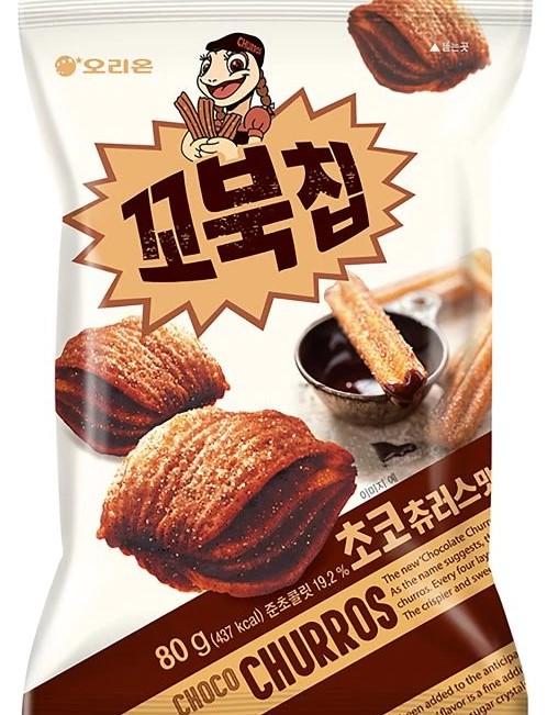 甘くて柔らかいチョコレートとほのかに香るシナモンが良い感じに調和したお菓子です 送料無料 オリオン コブクチップ 426Kcal チョコチュロス味 80g 限定特価