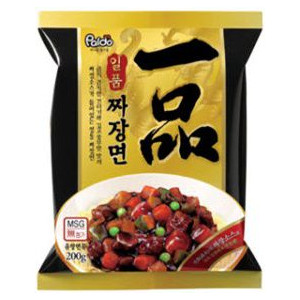 韓国中華麺 卸直営 甘味噌味のスープ無し麺です 新生活 深みのあるチャジャンソースが特徴です 韓国在住の中国人調理人が作ったと言われています チャジャン麺200g袋 一品