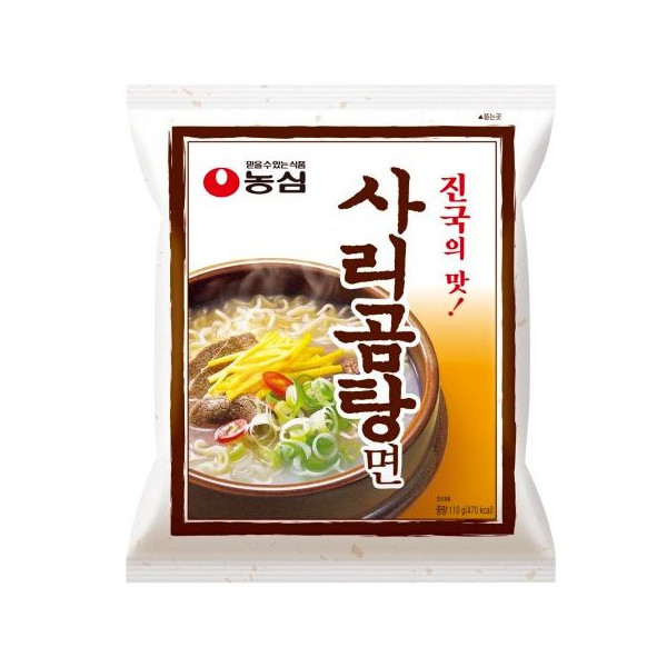 濃厚なコムタンスープ 韓国の味です 日本でもおなじみのコムタン味ラーメンです 人気ブランド トンコツと違いすっきりした味が自慢です メーカー再生品 サリコムタン麺 110g 農心