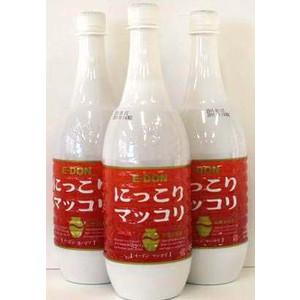 ほのかな甘みと酸味のバランスが良いマッコリです 二東 全店販売中 イードンにっこりマッコリ 爆買いセール 3本セット 1000mlペットボトル