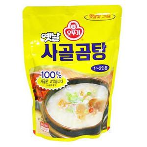 牛骨だけを長時間煮込んでスープを出し 牛肉を入れ丹念に調理した韓国伝統スープ 美味しさをそのままレトルトパウチしました 信憑 韓国スープ 牛骨スープ サゴルコムタン 500g 情熱セール オトギ