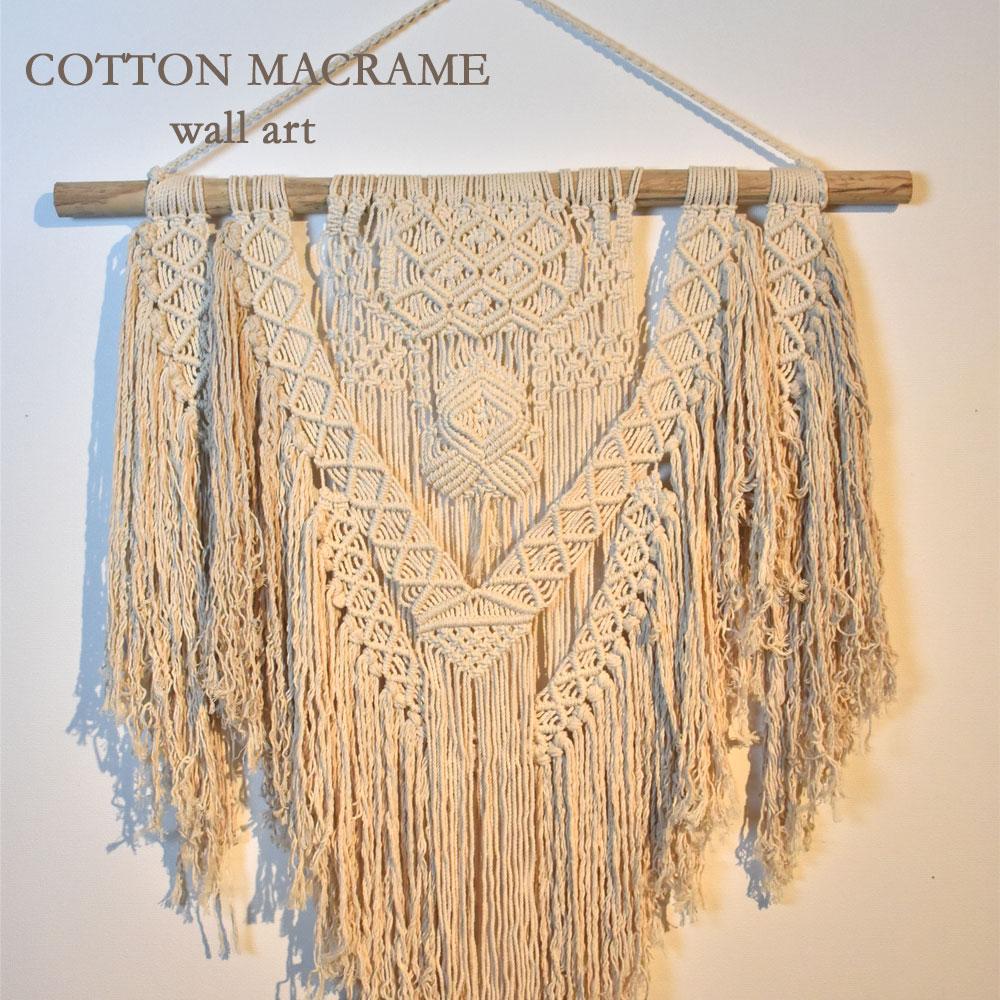 kanmuryou | Rakuten Global Market: Cotton macrame lacing wall art ...