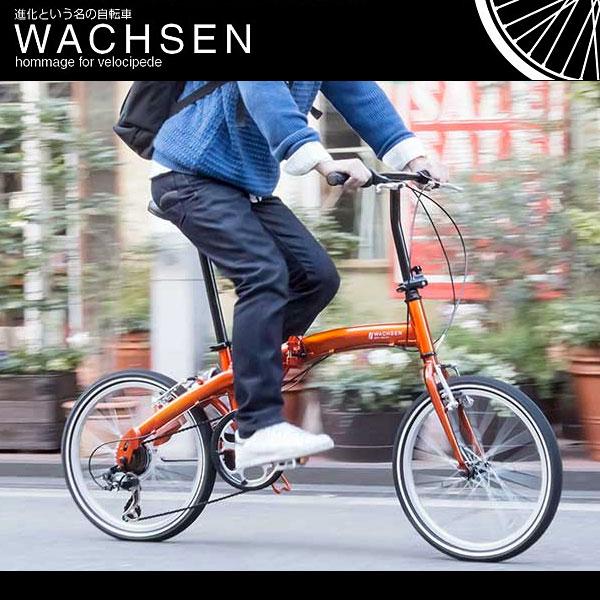 20インチ 折りたたみ自転車 シマノ6段変速 軽量 アルミフレーム  WACHSEN ヴァクセン wba-2001