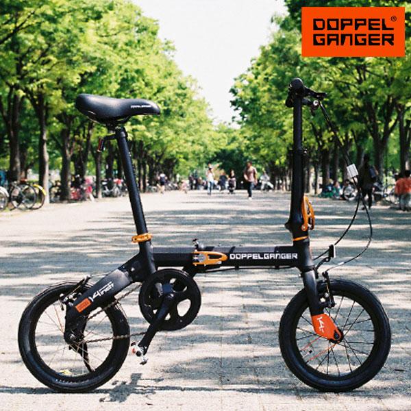 軽量 アルミフレーム 14インチ 折りたたみ自転車 ドッペルギャンガー 140 ハコベロ ブラック