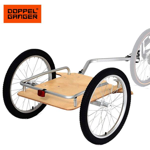 サイクルトレーラー 自転車トレーラー キャリーカート キャリートラック 台車 リヤカー ドッペルギャンガー DOPPELGANGER ウッディサイクルトレーラー dcr405-na