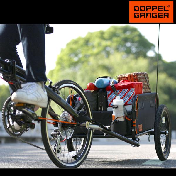 サイクルトレーラー 自転車トレーラー キャリーカート キャリートラック 台車ドッペルギャンガー DOPPELGANGER マルチユースサイクルトレーラー dcr434-dp