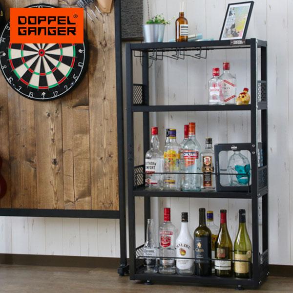 お酒を楽しむための専用ラック。 リカーラック ワインラック 酒 棚 ボトル 収納 ディスプレイ dds583-bk
