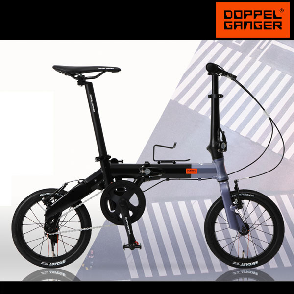 14インチ 超軽量 折りたたみ自転車 アルミフレーム ドッペルギャンガー doppelganger 140-h-gy HaKoVelo hyperdrive