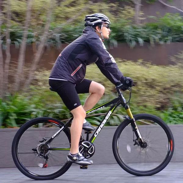26インチ MTB マウンテンバイク ブラック シマノ21段変速 ディスクブレーキ サスペンション camt-042-bk