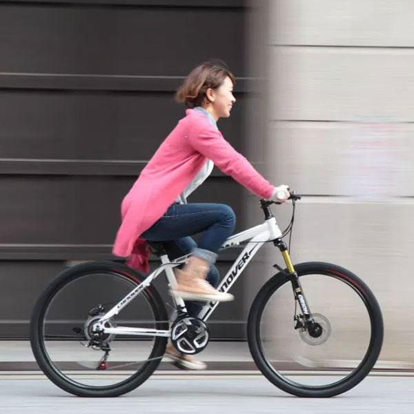 26インチ MTB マウンテンバイク ホワイト シマノ21段変速 ディスクブレーキ サスペンション camt-042-wh