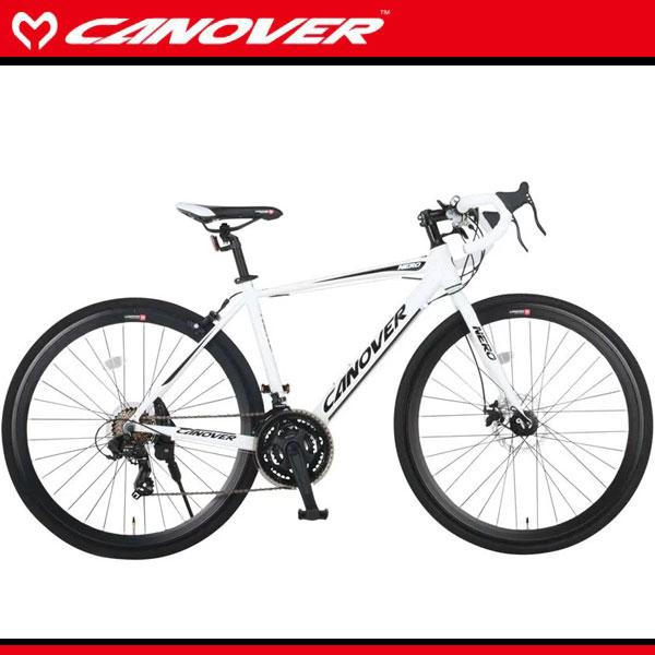 700C ロードバイク ホワイト 21段変速 軽量 アルミフレーム ディスクブレーキ ドロップハンドル 自転車 CANOVER カノーバー car-014