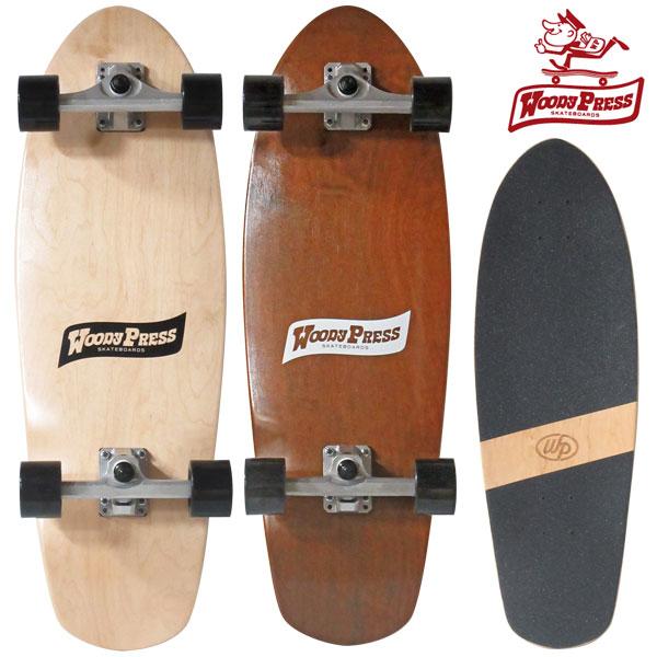 【今ならレンチ付き】スケートボード コンプリート スケボー 30インチ カービング サーフスケート woody press ウッディプレス