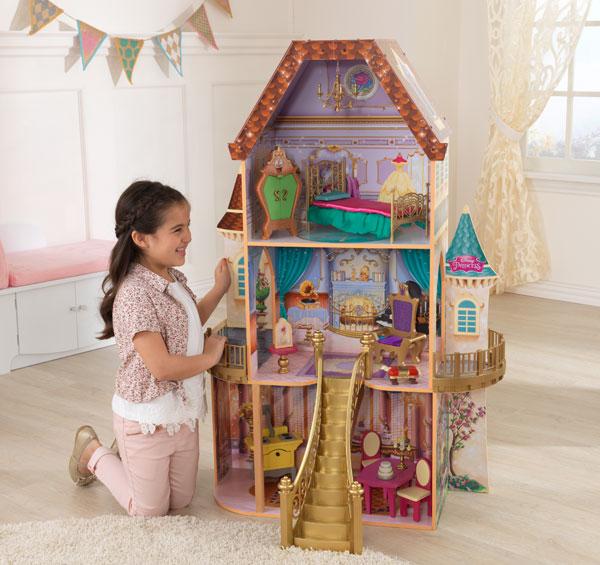 【送料無料】ドールハウス キット 木製 家具 キッドクラフト ディズニー プリンセスベルのファンタジードールハウス