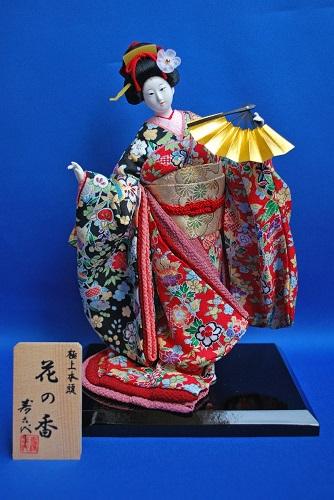 日本人形 京洛ものがたり 花の香(正絹) 一本舞扇