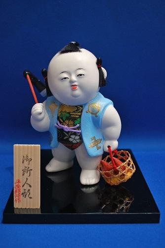 京人形 平安錦染作 御所人形(中)寒竹