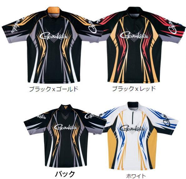 がまかつ 2WAYプリントジップシャツ(半袖) GM-3504