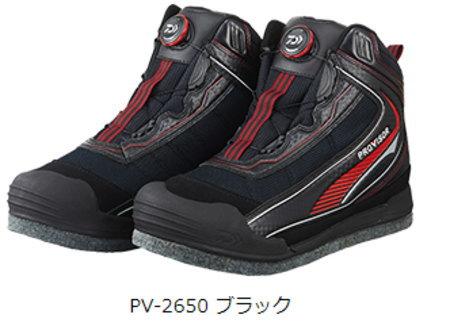 ダイワ プロバイザー フィッシングシューズ PV-2650ブラック(スパイクフェルト)