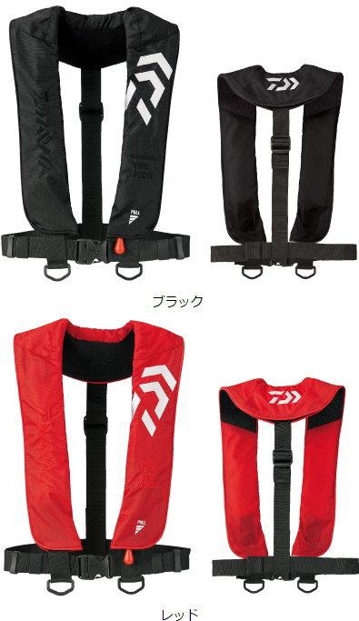 ダイワ インフレータブルライフジャケット(肩掛けタイプ手動・自動膨脹式) DF-2608