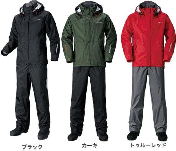 シマノ DSベーシックスーツ RA-027Q ブラック、カーキ、トゥルーレッド 2XL